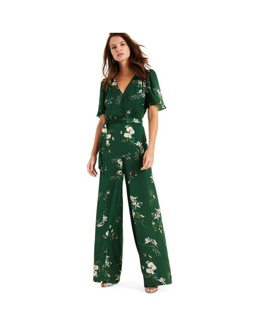 Phase Eight - Green Dalia Printed Floral Jumpsuit - Lyst