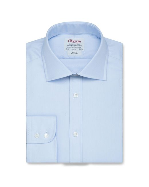 Tm Lewin - Regular Fit Blue Oxford Button Cuff Regular Sleeve Length Shirt for Men - Lyst