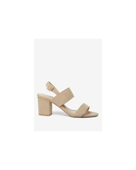 Dorothy Perkins - White Wide Fit Taupe Sadie Sandals - Lyst
