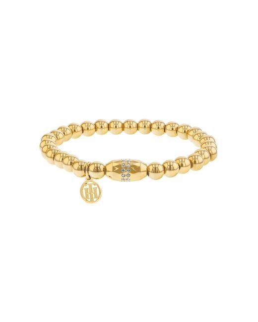Tommy Hilfiger - Metallic Ladies Gold Diamante Beaded Bracelet - Lyst