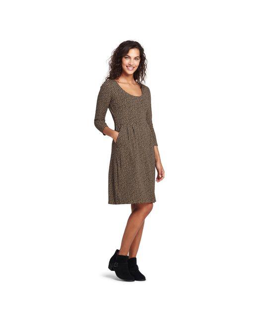 9652401f5f97f Lands  End - Multicolor Multi Scoop Neck Print Jersey Dress ...