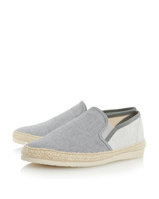 8d9bb1d9a ... Bertie - Gray Grey 'fondant' Chambray Espadrille Shoe for Men - Lyst