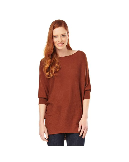 59c678a0de8 Women's Brown Tobacco Becca Batwing Jumper