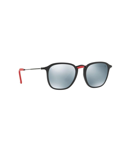 dd36496f67 Ray-Ban Black 0rb2448nm Square Sunglasses in Black for Men - Lyst