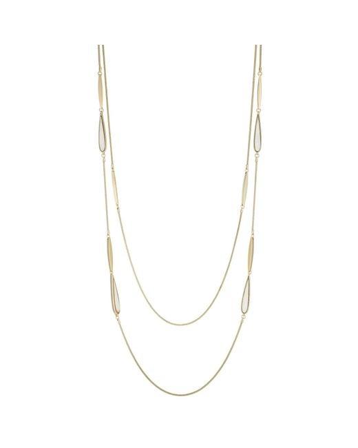 J By Jasper Conran - Metallic Designer Shell Droplet Multi Row Necklace - Lyst