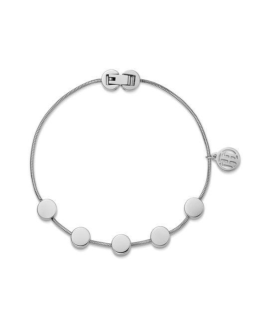 Tommy Hilfiger - Metallic Ladies Stainless Steel Multi Coin Bracelet2700979 - Lyst