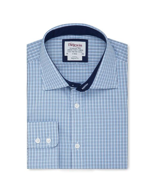Tm Lewin - Regular Fit Blue Navy Multi Check Long Sleeve Length Shirt for Men - Lyst