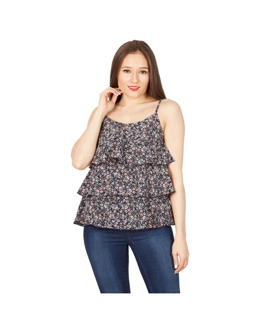 4deed434039a08 Apricot - Blue Navy Floral Print Tiered Cami Top - Lyst ...