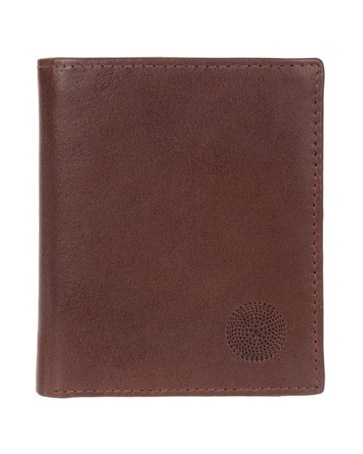 Conkca London - Dark Brown 'sharma' Genuine Leather Rfid Wallet for Men - Lyst