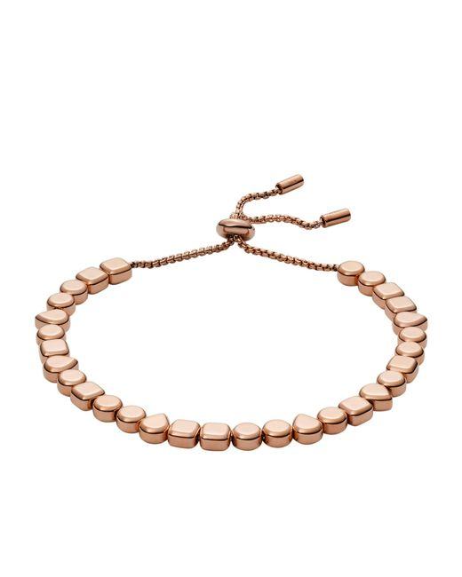Fossil - Metallic Rose Gold Bracelet - Lyst