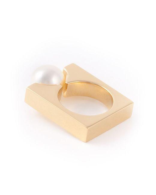Chloé | Metallic Chloé 'darcey Square' Ring | Lyst
