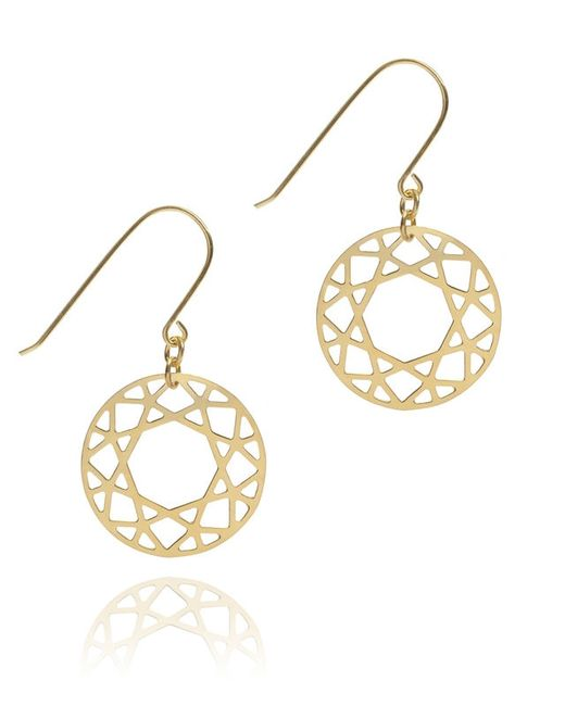 Myia Bonner | Yellow Gold Brilliant Diamond Drop Earrings | Lyst