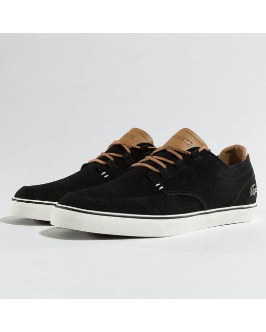 8151194ffafdd3 Lacoste - Black Sneakers Esparre Deck for Men - Lyst ...