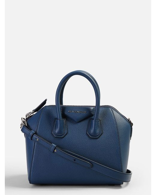 Givenchy - Blue Mini Antigona Leather Bag - Lyst ... bcfd810f20