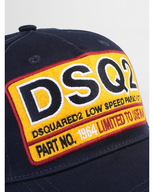 ... DSquared² - Blue Patched Baseball Hat for Men - Lyst 8db99ff64bb3