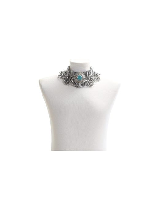 Night Market | Metallic Silver Beads Necklace | Lyst