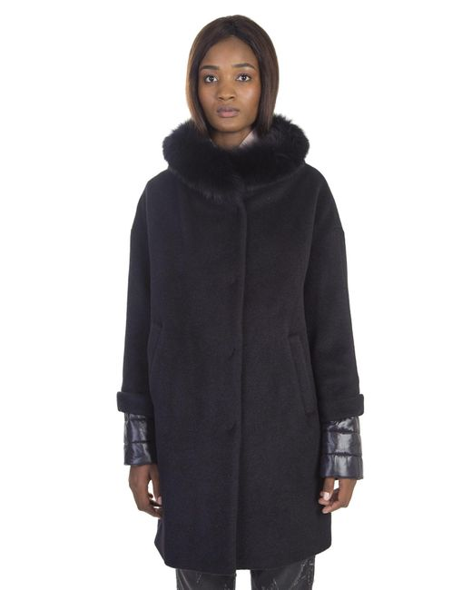 Herno | Blue Mixed Wool Classic Fitted Coat | Lyst