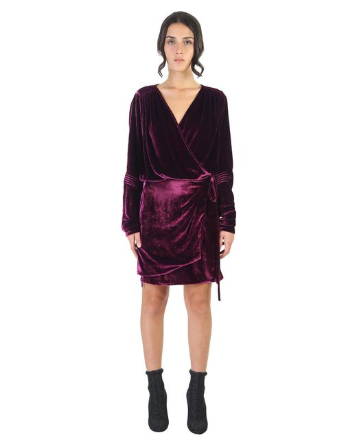Attico Silk Velvet Mini Dress In Purple Save 18 Lyst