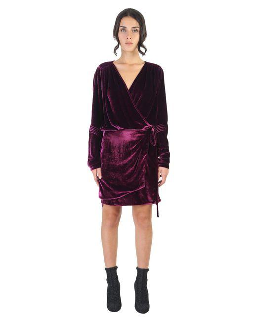 Attico Silk Velvet Mini Dress In Purple Save 18 Lyst