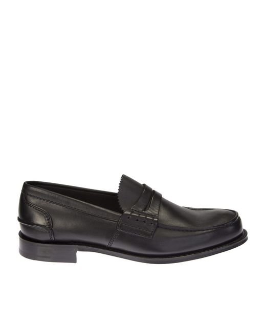Church's | Black Leather Pembrey Moccasin for Men | Lyst