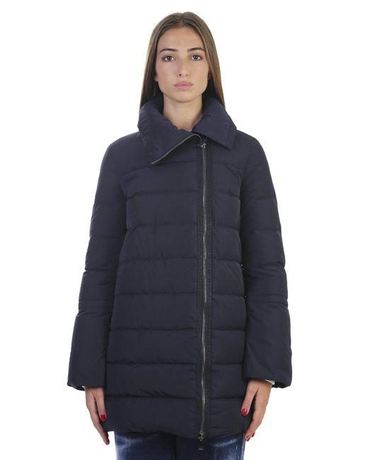 Moncler | Blue Padded Nylon Coat | Lyst