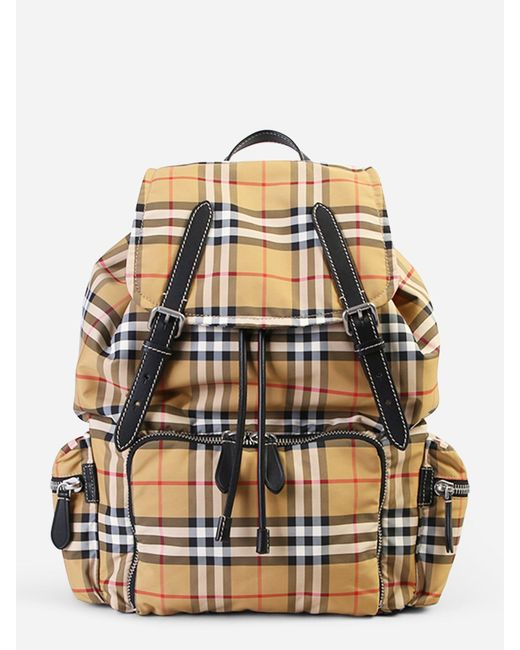 Burberry - Multicolor Nylon And Leather Backpack for Men - Lyst ... 723d13ed4547b