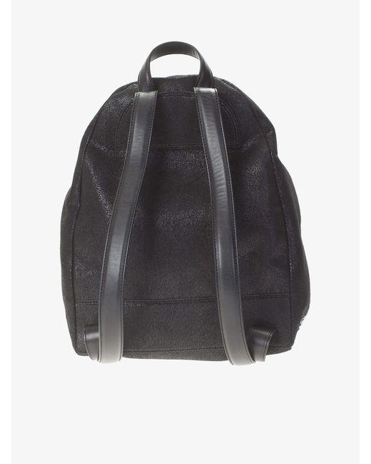 bd70587d5b93 ... Stella McCartney - Black Falabella Shaggy Deer Faux Leather Backpack -  Lyst ...