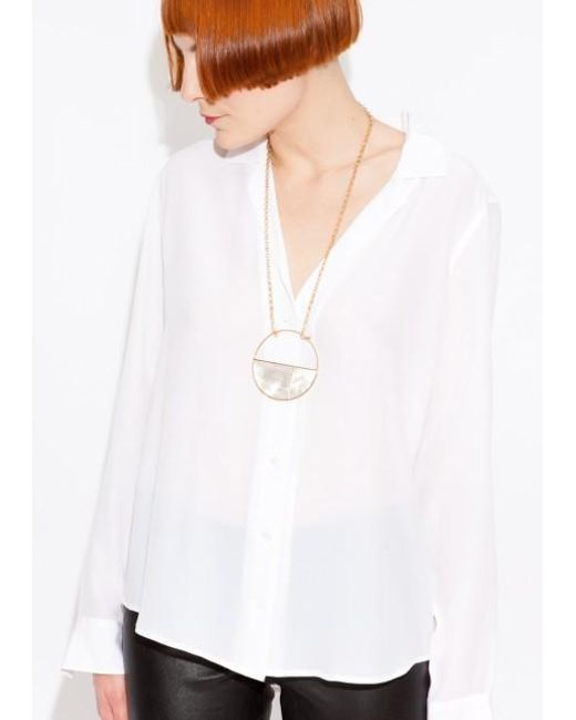 Aurelie Bidermann | Metallic 'bianca' Reversible Mirror Necklace | Lyst