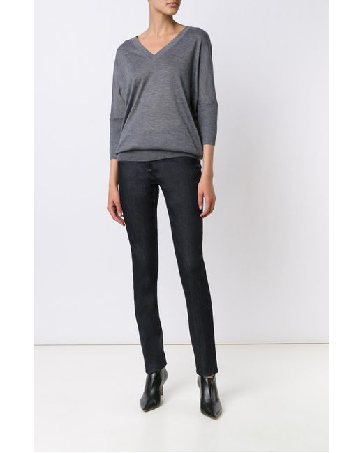 Derek Lam | Gray Dolman Sleeve Sweater | Lyst