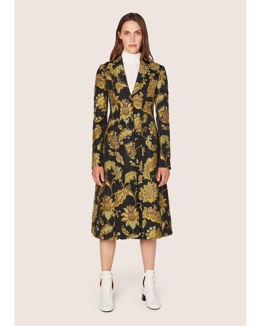 Derek Lam | Multicolor Long Tailored Notch Lapel Coat | Lyst