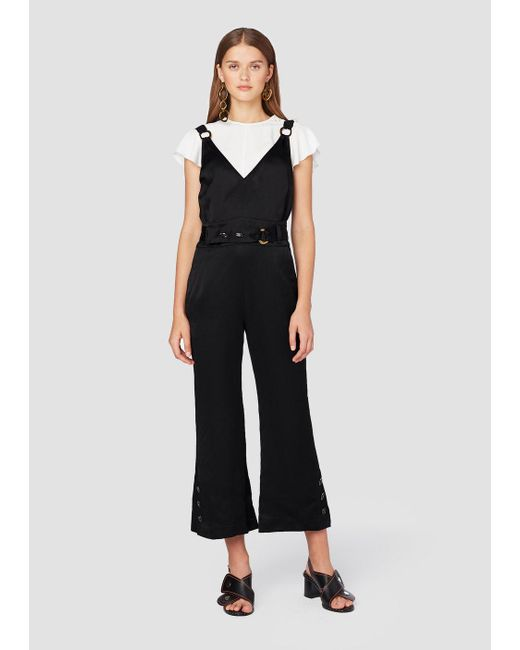 10 Crosby Derek Lam - Black Sleeveless Jumpsuit With Belt Detail - Lyst
