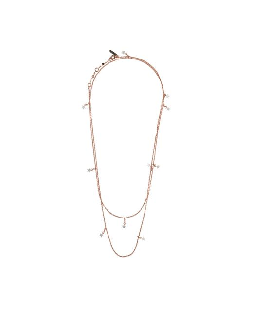 Tada & Toy   Metallic Falling Star Chain Necklace Rose Gold   Lyst