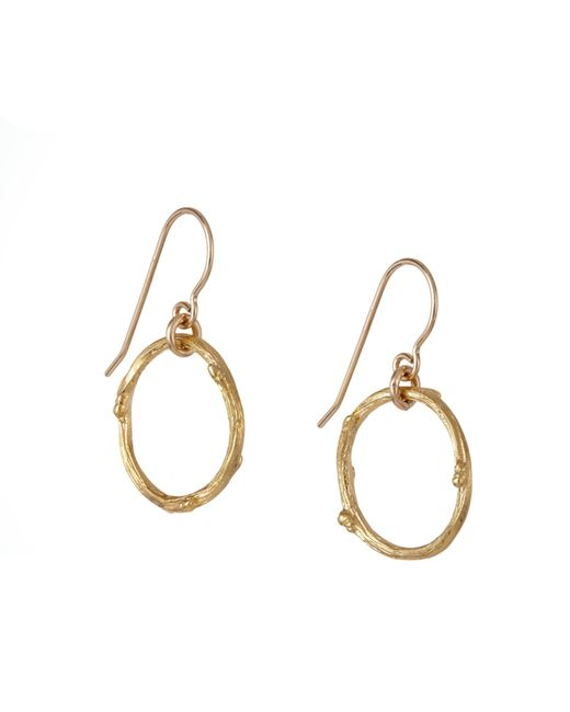 Chupi | Metallic Hawthorn Twig Infinity Earrings Gold | Lyst