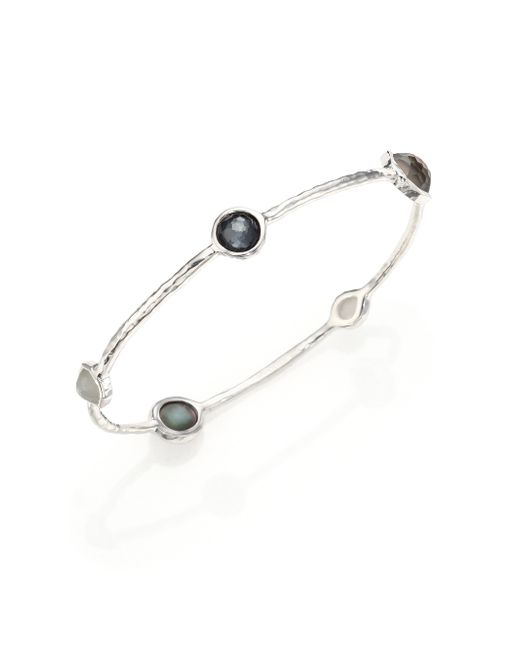 Ippolita | Black Rock Candy Sterling-Silver Bangle  | Lyst