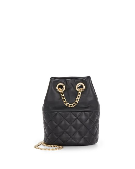 Vince Camuto | Black Rizzo Quilted Leather Mini Bucket Bag | Lyst