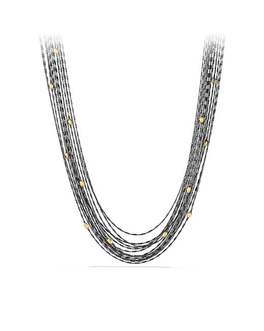 David Yurman | Metallic Chain Necklace With 18k Gold | Lyst