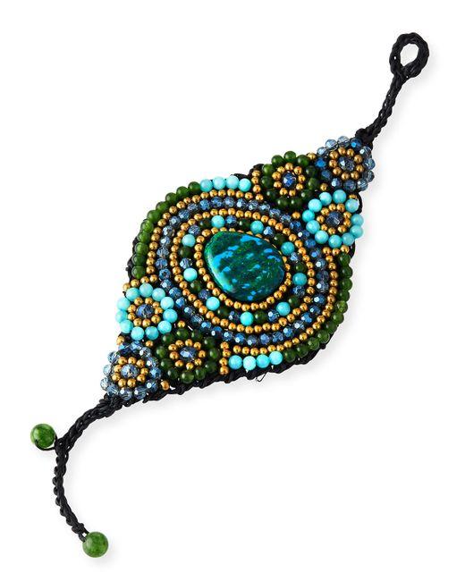 Panacea | Blue Beaded Agate Rope Bracelet | Lyst