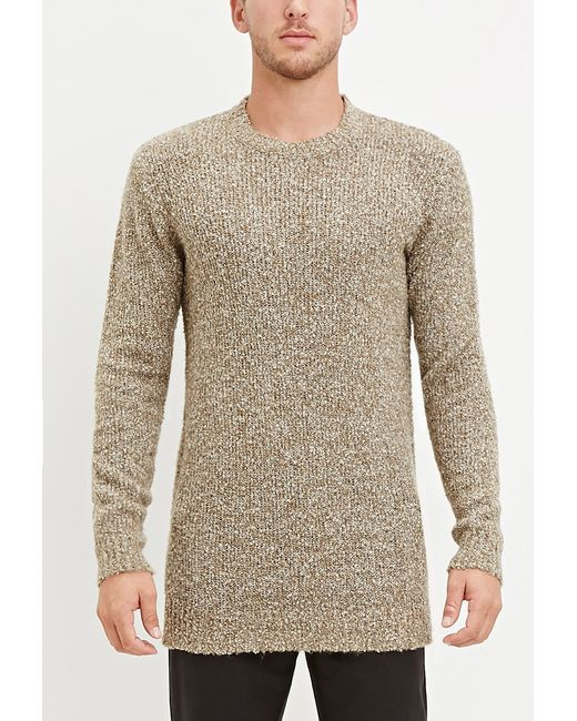 Forever 21 | Brown Textured Loop-knit Sweater for Men | Lyst