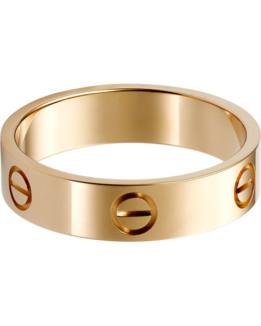 Cartier | Love 18ct Pink-gold Ring | Lyst