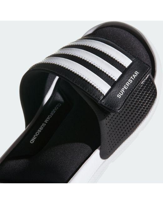 20acf837c97c ... Adidas - Black Superstar 5g Adjustable Slides for Men - Lyst ...