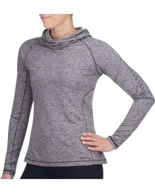 Saucony - Gray Run Strong Hoodie - Lyst