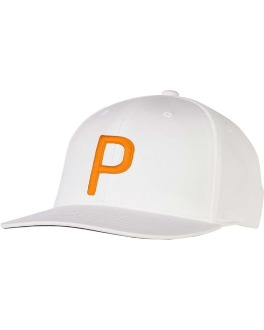PUMA - Orange P 110 Snapback Golf Hat for Men - Lyst ... a1da383debe