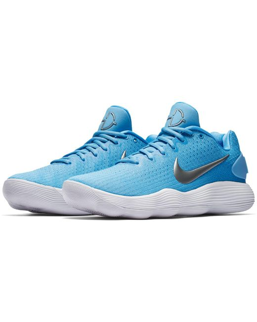 the best attitude 7ccdf 0953f ... order nike blue react hyperdunk 2017 low basketball shoes for men lyst  4ab26 94960
