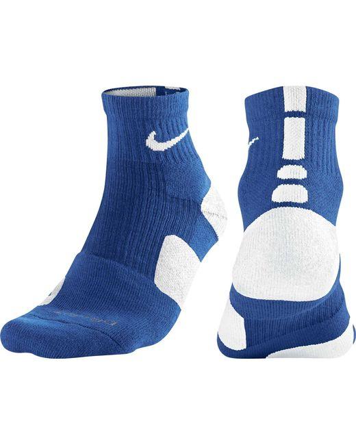 Lyst - Nike Elite High Quarter Basketball Socks in Blue ...