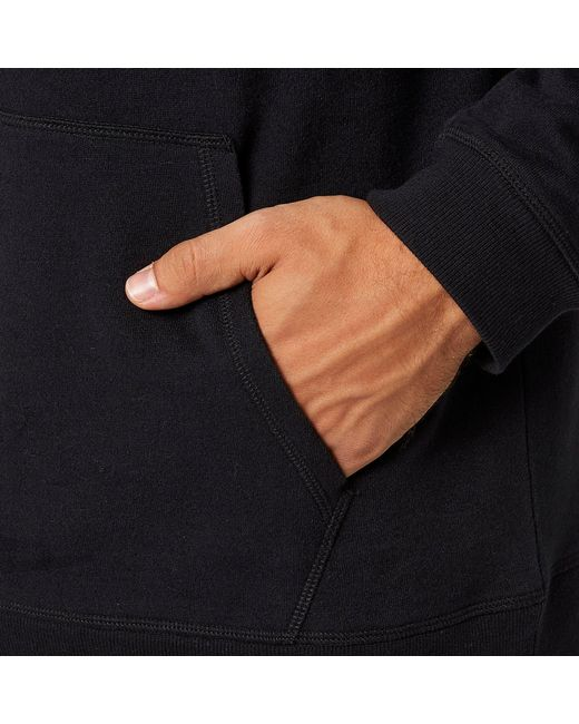 reebok 24 7 jersey hoodie. reebok | black cotton fleece hoodie for men lyst 24 7 jersey a