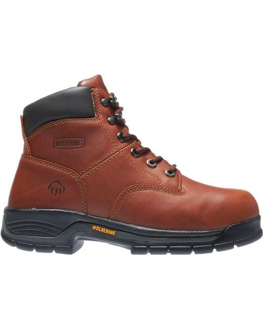 """Wolverine - Brown Harrison 6"""" Work Boots for Men - Lyst"""