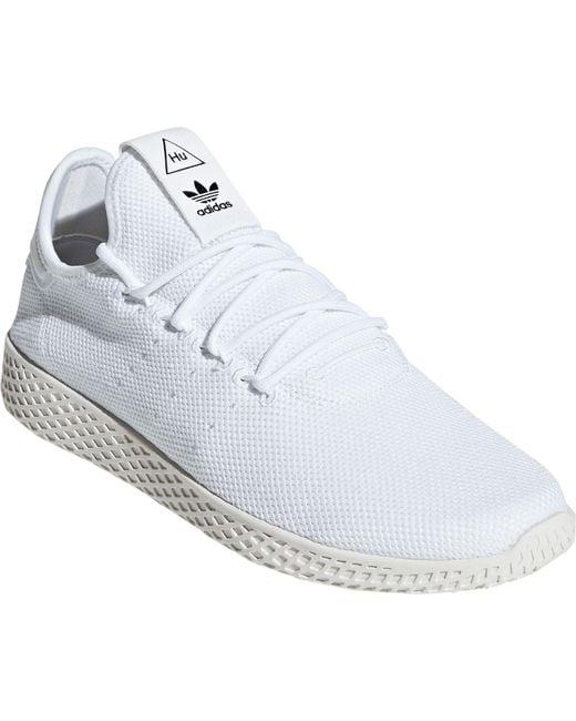 13b66fc1d ... Adidas - White Originals Pharrell Williams Tennis Hu Shoes for Men -  Lyst ...
