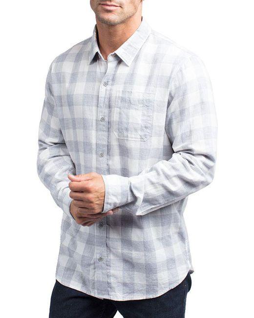 ff2a39a5 Travis Mathew - White Quinella Long Sleeve Golf Shirt for Men - Lyst ...