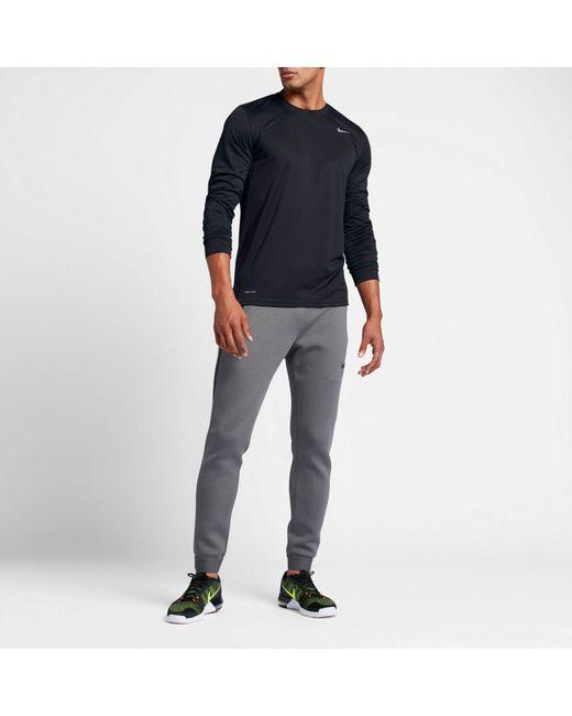 d9c8b0c18 ... Nike - Black Legend Long Sleeve Shirt for Men - Lyst ...