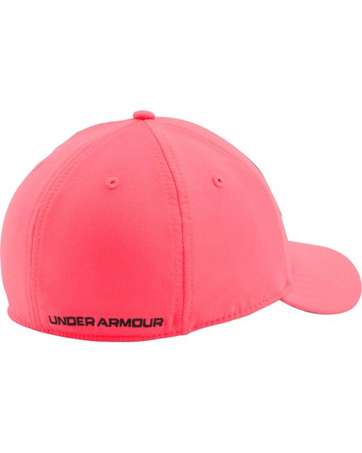... Under Armour - Pink Caliber 2.0 Stretch Fit Hat - Lyst ... 6fd2398a063